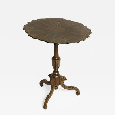 Swedish Faux Painted Scalloped Tilt Top Table