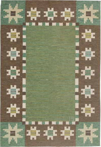 Swedish Flat Weave Rug by Ingegerd Silow