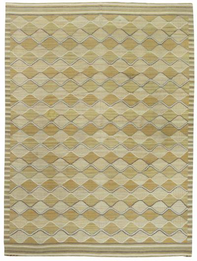 Swedish Flat Weave Spattangul Rug by Marta Mass Fjetterstrom