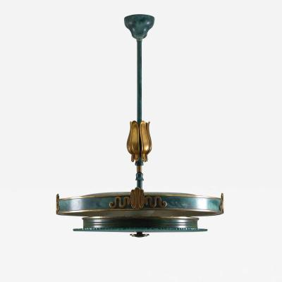 Swedish Grace Pendant in Glass and Patinated Brass