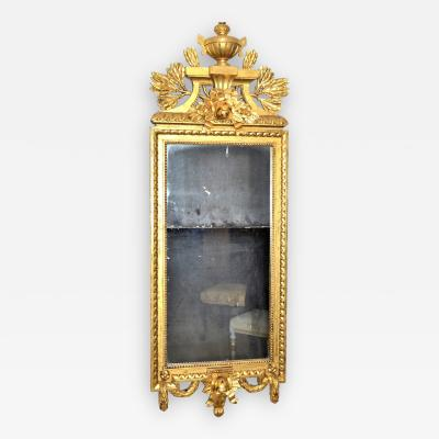 Swedish Gustavian style Carved and Gilded Mirror
