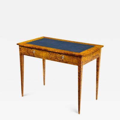 Swedish Karelian Birch Writing Table Second Half of the 19th Century