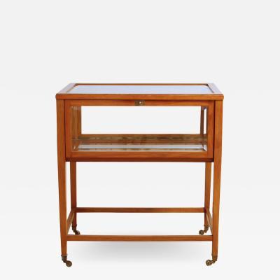 Swedish Mid Century Oak Vitrine Table