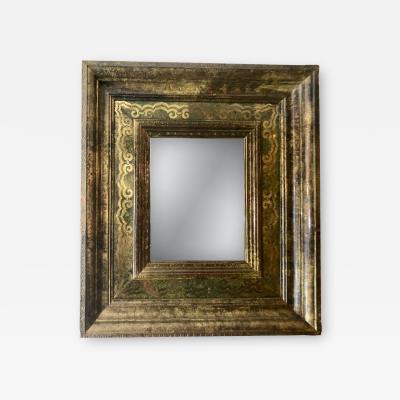 Swedish Mirror with Metal Veneer