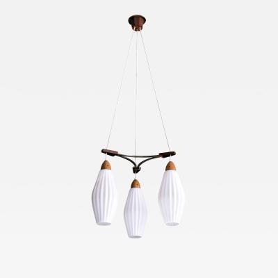 Swedish Modern Triple Pendant Light by Luxus