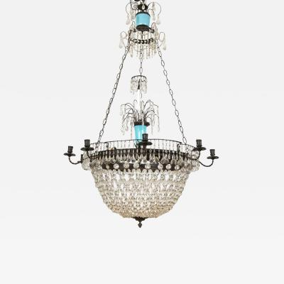 Swedish Neo Classic Crystal Chandelier