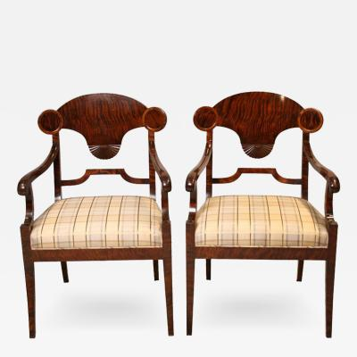 Swedish Quilted Birch Armchairs