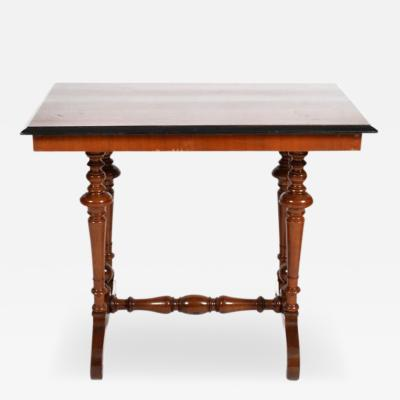 Swedish Rectangular Occasional Walnut Table Circa 1880
