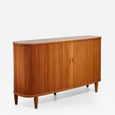 Swedish Sideboard with Tambour Doors 1940s