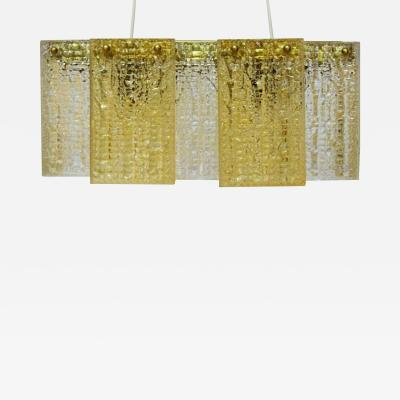 Swedish design for Elidus Ceiling lamp in art glass with brass mounting