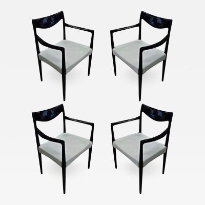 Swedish exceptional design set of 4 arm chairs