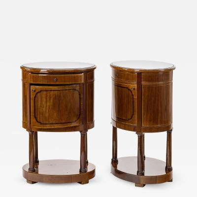 Swedish neo classical pair of bedsides or side table