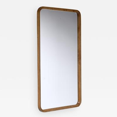 Swedish rectangular birch mirror 1930s