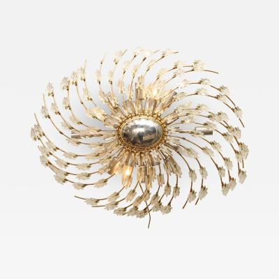 Swirling Italian Glass Wall Light Fixture