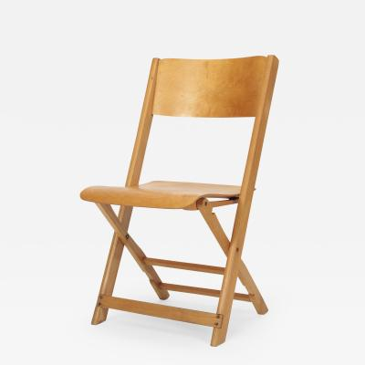 Swiss Birchwood Folding Chair 40 s