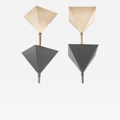 Swiss Cubist Pendant Lights from Zurich Switzerland 1970s