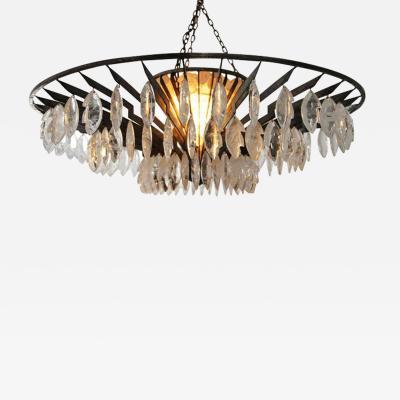 Sylvain Subervie Rock Crystal chandelier by Sylvain Subervie