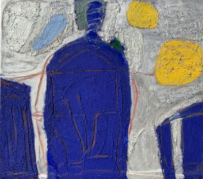 Sylvia Rutkoff Mexican Night 1950s Abstract Painting Female NYC Artist Brooklyn Museum