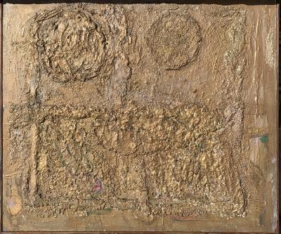 Sylvia Rutkoff Mid Century Bronze Wall Brutalist Painting Brooklyn Museum Artist