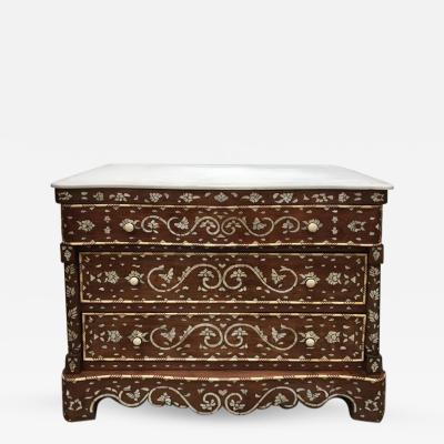 Syrian Chest of Drawers Mother of Pearl Inlay