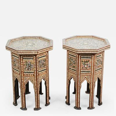 Syrian Octagonal Tables Inlay with Mother of Pearl