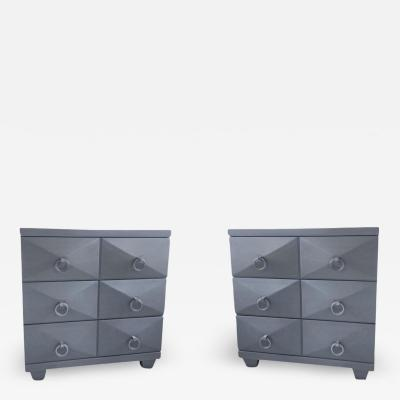 T H Robsjohn Gibbings A pair of bed side Mid Century chests contemporary