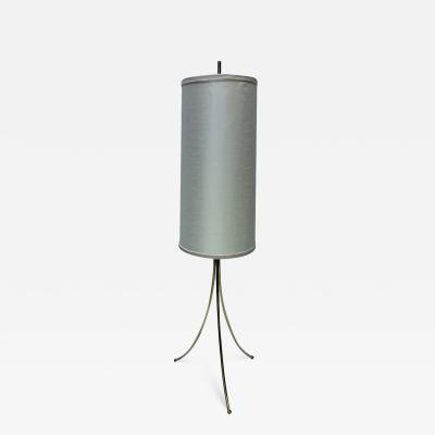 T H Robsjohn Gibbings Brass Tripod Floor Lamp in the Style of Robsjohn Gibbings 1950