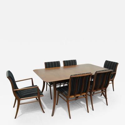T H Robsjohn Gibbings Dining Table and Chairs by T H Robsjohn Gibbings for Widdicomb