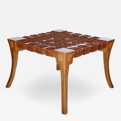 T H Robsjohn Gibbings Klismos Stool Table by T H Robsjohn Gibbings mfg Saridis of Athens 1961