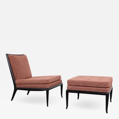 T H Robsjohn Gibbings Lounge Chair and Ottoman by T H Robsjohn Gibbings for Widdicomb