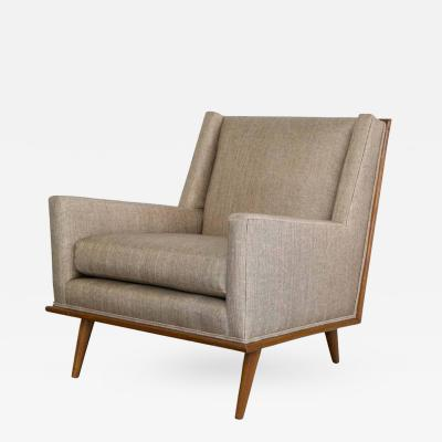 T H Robsjohn Gibbings Mid Century Square Form Lounge Chairs in the Manner of T H Robsjohn Gibbings