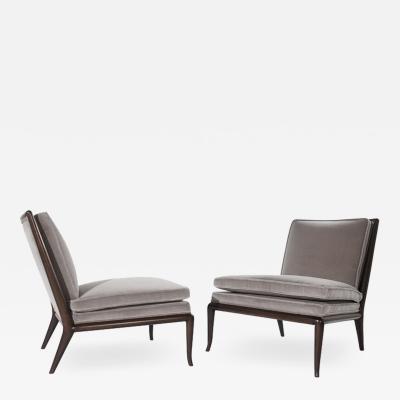 T H Robsjohn Gibbings Model WMB Slipper Chairs by T H Robjohn Gibbings 1950s