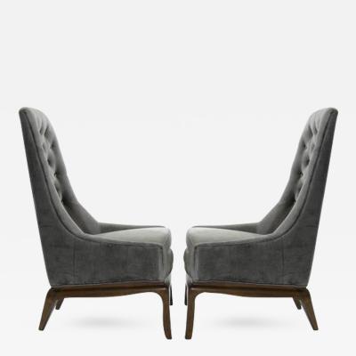 T H Robsjohn Gibbings Modern Era T H Robsjohn Gibbings Style Lounge Chairs