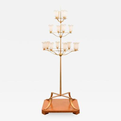 T H Robsjohn Gibbings Monumental T H Robsjohn Gibbings Floor Lamp from White Shadows Estate