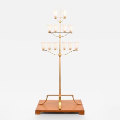 T H Robsjohn Gibbings Monumental T H Robsjohn Gibbings Floor Lamp from White Shadows Estate