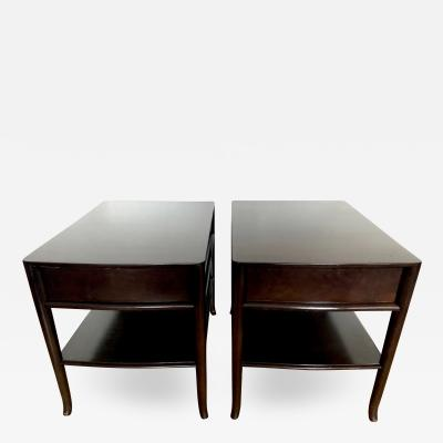 T H Robsjohn Gibbings Pair TH Robsjohn Gibbings End Tables