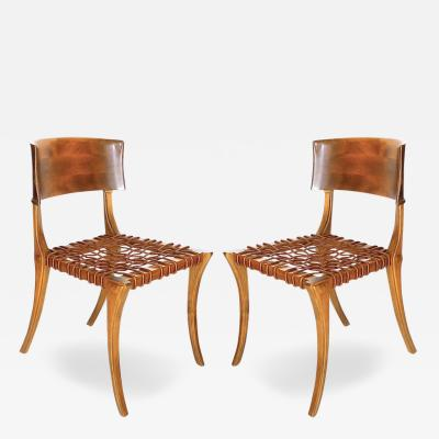 T H Robsjohn Gibbings Pair of 1961Klismos Chairs by T H Robsjohn Gibbings Saridis of Athens