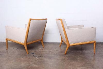 T H Robsjohn Gibbings Pair of Lounge Chairs by T H Robsjohn Gibbings