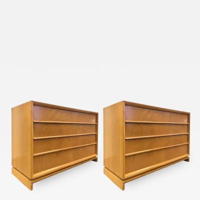 T H Robsjohn Gibbings Pair of Robsjohn Gibbings for Widdicomb Dressers