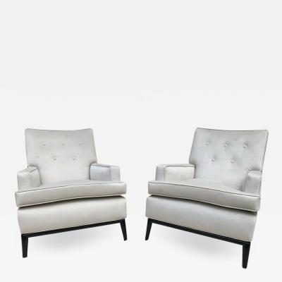 T H Robsjohn Gibbings Pair of T H Robsjohn Gibbings Club Chairs Lounge Chairs