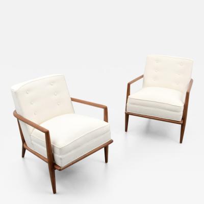 T H Robsjohn Gibbings Pair of T H Robsjohn Gibbings Lounge Arm Chairs Commissioned