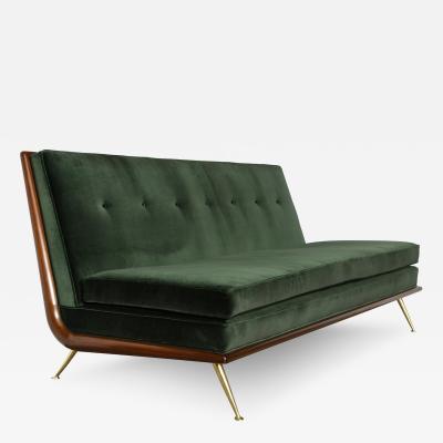 T H Robsjohn Gibbings Rare Armless Sofa by T H Robsjohn Gibbings