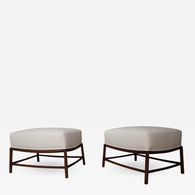 T H Robsjohn Gibbings Rare Pair of stools restored T H Robsjohn Gibbings 1950s