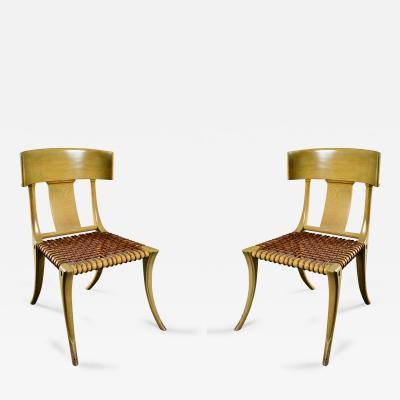 T H Robsjohn Gibbings Robsjohn Gibbings Pair of Klismos Chairs