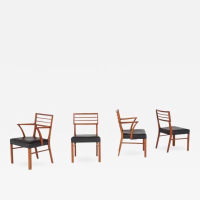 T H Robsjohn Gibbings Robsjohn Gibbings Style Mid Century Modern Teak Chairs circa 1960
