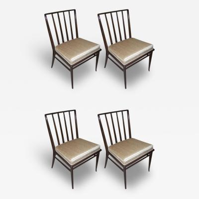 T H Robsjohn Gibbings Set of 4 Four T H Robsjohn Gibbings Dining Chairs