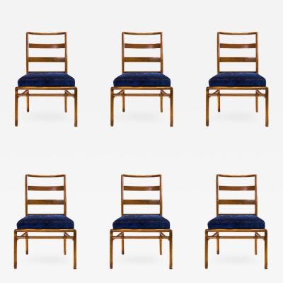 T H Robsjohn Gibbings Set of Six Ladder Back Dining Chairs by Robsjohn Gibbings