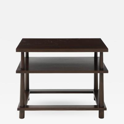 T H Robsjohn Gibbings Side Table by Robsjohn Gibbings in Light Walnut Wood