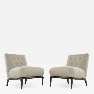T H Robsjohn Gibbings Slipper Chairs in Boucl by T H Robsjohn Gibbings c 1950s