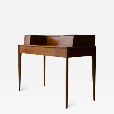 T H Robsjohn Gibbings T H Robsjohn Gibbings Desk for Widdicomb in Mahogany with Sabre Legs 1950s